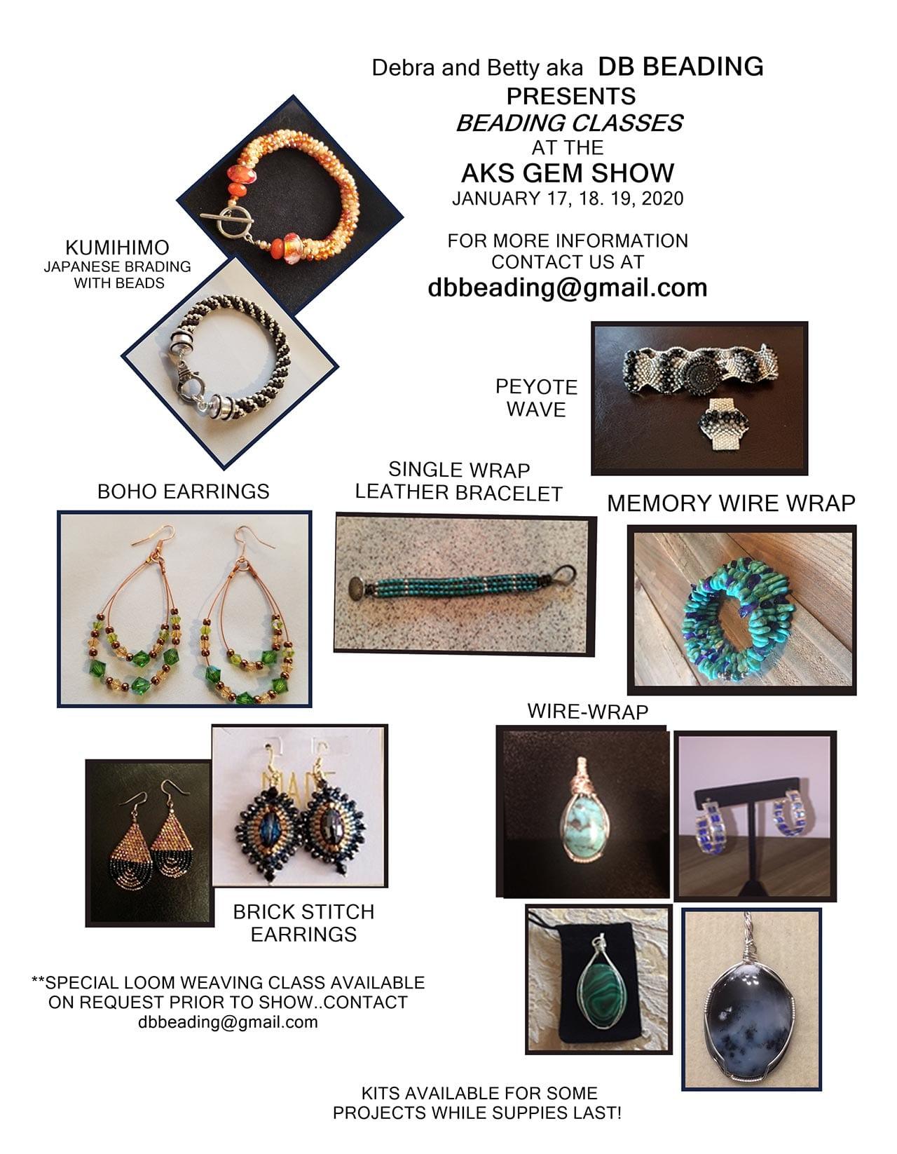 Classes-for-Oklahoma Winter Jewelry, & Bead Show